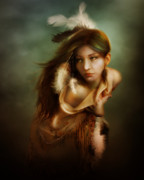 Indian Digital Art - Little Dove by Karen Koski