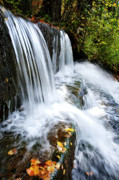 Rushing Stream Acrylic Prints - Little Elbow Waterfall Acrylic Print by Thomas R Fletcher