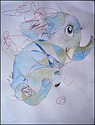 Infantile Paintings - Little Elephant by Paulo Zerbato