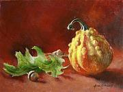 Acorn Paintings - Little Fall Still Life by Anna Bain