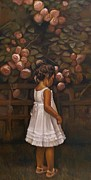 Religious Artist Paintings - Little Flower by Curtis James