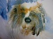 Raw Umber Art - Little Fluffy Dog by Donna Acheson-Juillet