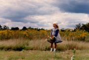 Illustrative Photo Prints - Little Girl in the Field Print by Laura Corebello