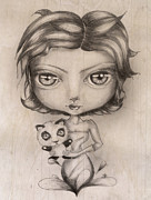 Little Girl Mixed Media - Little girl by Marie-Pier Larocque