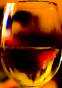Wine-glass Framed Prints - Little Glass of Wine Framed Print by Stephen Anderson