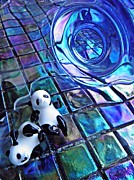Distortion Prints - Little Glass Pandas 13 Print by Sarah Loft
