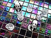 Pawn Posters - Little Glass Pandas 27 Poster by Sarah Loft