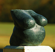 Carved Sculpture Posters - Little Granite Torso  Poster by Tommy  Urbans
