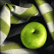 Food And Beverage Reliefs - Little Green Apple by Diana Lee