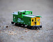 Caboose Prints - Little Green Caboose Print by Jai Johnson