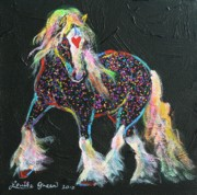 Gypsy Mixed Media - Little Gypsy Treasures Pony by Louise Green