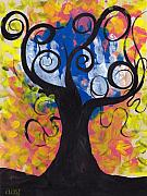 Coin Prints - Little Hands Tree Print by  Abril Andrade Griffith