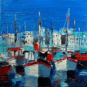 Mona Edulescu Paintings - Little Harbor by EMONA Art