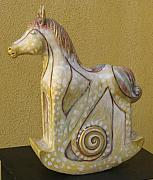 Animals Sculptures - Little horse by Dambros AFerrari