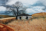 Mpumalanga Paintings - Little house in the veld by Greg Norman