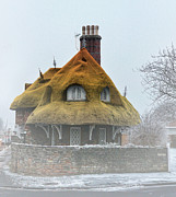 Thatched Cottage Posters - Little House on the Corner Poster by Alex Hardie