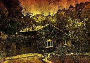 Creepy Digital Art Metal Prints - Little House Metal Print by Svetlana Sewell