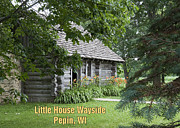 Little Cabin Prints - Little House Wayside Card Print by George Hawkins