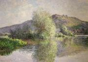 Hills Paintings - Little Islands at Port-Villez by Claude Monet