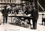 1900s Prints - Little Italy - Street Vendor With Wares Print by Everett