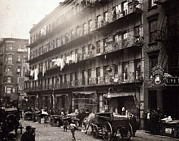 Italian Market Prints - Little Italy, A Row Of Tenements Print by Everett