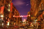 Italian Restaurant Digital Art Posters - Little Italy at Dawn Poster by Lee Dos Santos