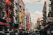 New York Signs Photo Framed Prints - Little Italy Framed Print by Benjamin Matthijs