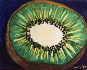 Kiwi Painting Originals - Little Kiwi by Gitta Brewster