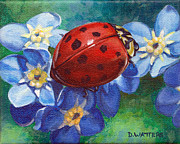 Forget Me Not Paintings - Little Lady by Darlene Watters