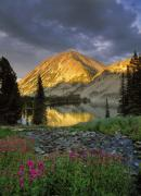 Mountain Light Prints - Little Lake Print by Leland Howard
