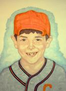 Baseball Mixed Media - Little Leaguer by Edward Ruth