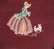 Female Tapestries - Textiles Originals - Little Miss by Elizabeth A Gawronski