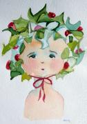 Little Miss Innocent Ivy Print by Mindy Newman