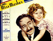 Moustache Prints - Little Miss Marker, Adolphe Menjou Print by Everett