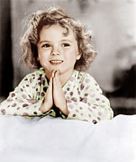 Pajamas Art - Little Miss Marker, Shirley Temple, 1934 by Everett