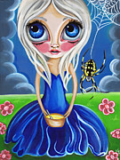 Nursery Rhyme Painting Metal Prints - Little Miss Muffet Metal Print by Jaz Higgins