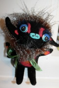 Animal Ceramics - Little Monster by Kathleen Raven