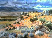 Cedars Paintings - Little MountainView by Dawn Senior-Trask