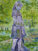 Statue Portrait Paintings - Little Nanny  by Patsy Sharpe