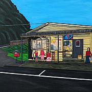 Iconic Paintings - Little Oneroa Store by Sandra Marie Adams