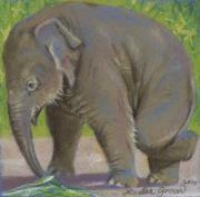 Zoo Pastels - Little Pathi Harn by Louise Green