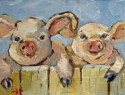 Little Pigs Print by Delilah  Smith