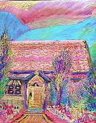 Little Pink House Print by Anne-Elizabeth Whiteway