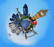London Olympics 2012 Framed Prints - Little Planet - London Framed Print by Yhun Suarez