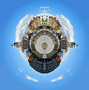 Sunset Framed Prints Framed Prints - Little Planet - Nottingham Town Hall Framed Print by Yhun Suarez