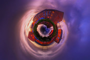 Houses Framed Prints Framed Prints - Little Planet - Suburban Sunset Framed Print by Yhun Suarez