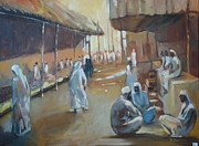 Middle East Painting Originals - Little Port of Dubai by Brigitte Roshay