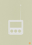 Mid Century Design Prints - Little Radio Print by Irina  March