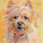 Cairn Terrier Posters - Little Ray of Sunshine Poster by Kimberly Santini