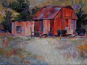 Outbuildings Painting Framed Prints - Little Red Barn Framed Print by Gary Gore